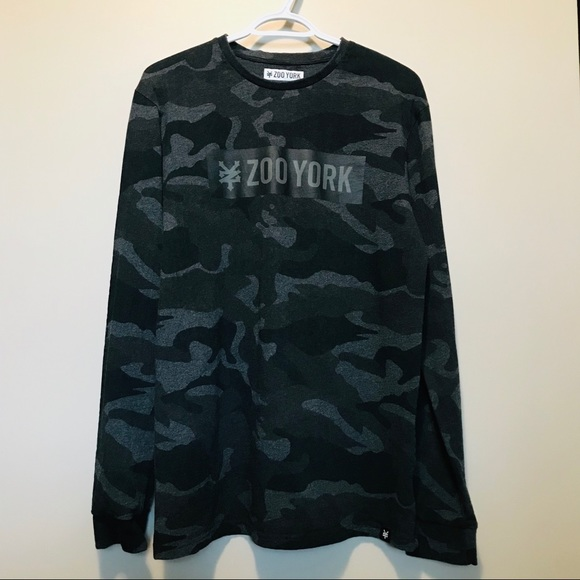Zoo York Long Sleeve Camouflaged T Shirt